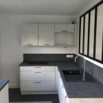 Aménagement d'une cuisine dans un garage - La Maison Des Travaux Rennes